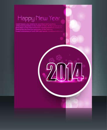 twenty thirteen: Design for new year template brochure card colorful vector