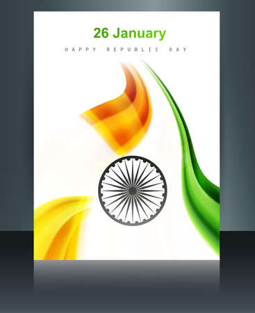 Beautiful Republic Day Brochure Template For Stylish Indian Flag ...