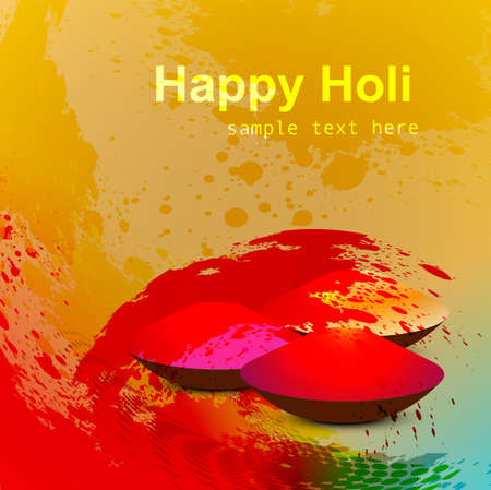 abstract gulal background for holi festival vector illustration Vector