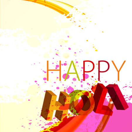 gulal: abstract gulal background of holi text festival wave background vector