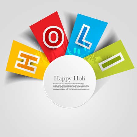 abstract colorful background for stylish  holi text festival design vector Vector
