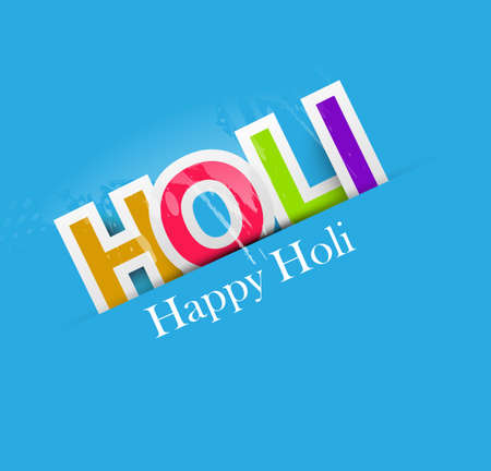 Stylish for colorful happy holi text design vector background Vector