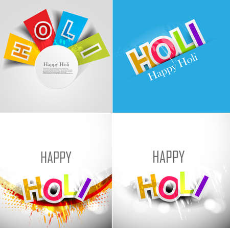 abstract colorful background for stylish holi text festival collection presentation card design vector Vector