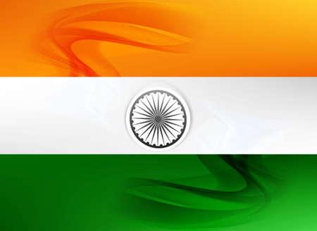 republic day beautiful indian flag tricolor art vector design