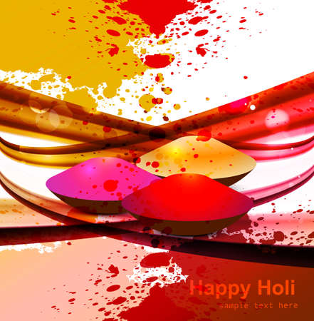 abstract gulal background for holi colorful wave festival background Vector