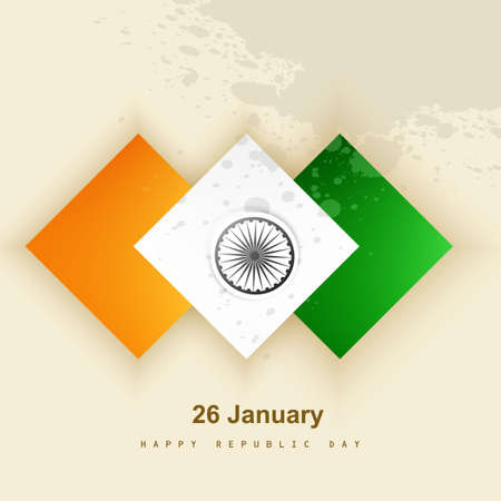 Indian flag presentation republic day beautiful stylish creative tricolor vector