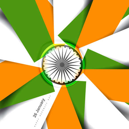 Stylish indian flag republic day creative tricolor vector design