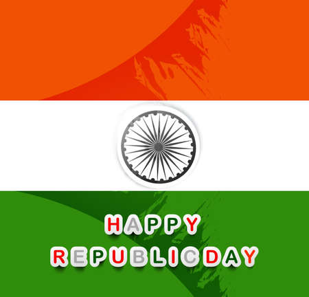 Beautiful stylish indian flag republic day tricolor vector Illustration