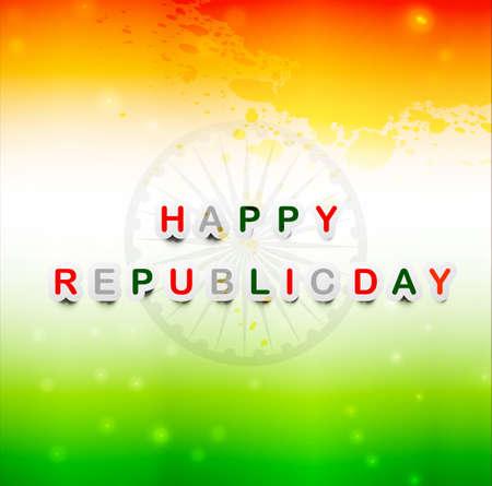 Vector illustration for indian flag  Republic Day design Illustration
