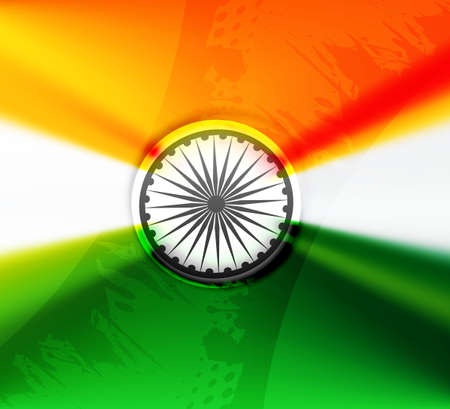 Beautiful stylish indian flag republic day tricolor design illustration