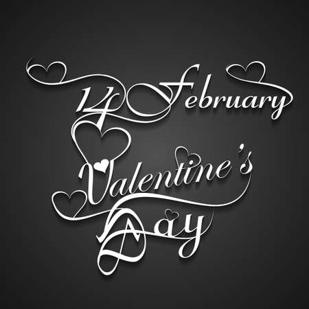valentino: Beautiful 14 February stylish text design for valentines day