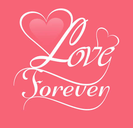 Beautiful background for Love forever card vector