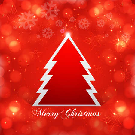 Christmas tree bright colorful  Vector