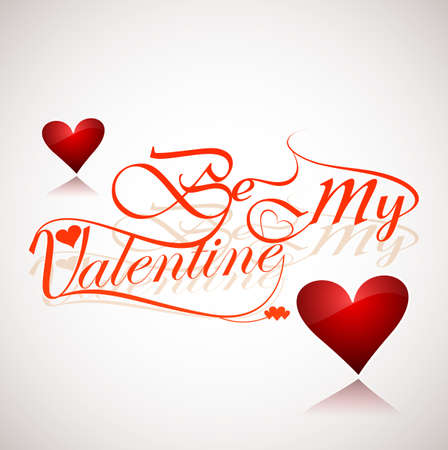 valentino: Card for Be My Valentine text colorful hearts design