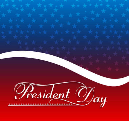Presidents day American Flag background vector