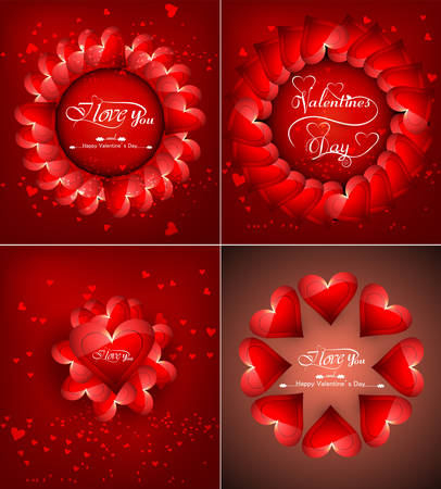 valentino: Beautiful background for happy valentines day heart colorful collection design vector Illustration