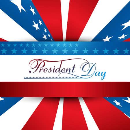 화려한 배경 일러스트 벡터와 함께 미국 대통령의 날 스톡 콘텐츠 - 25787793