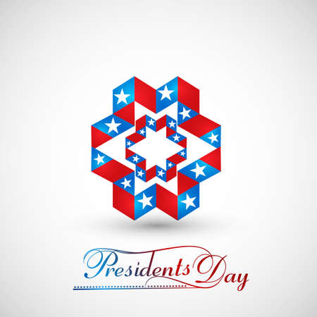United States of America in President Day for beautiful creative icon design vector Vector