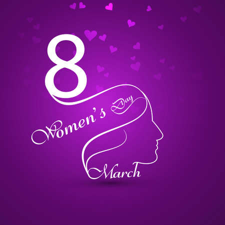 Greeting card with text 8th March Happy Womens Day background   Vector