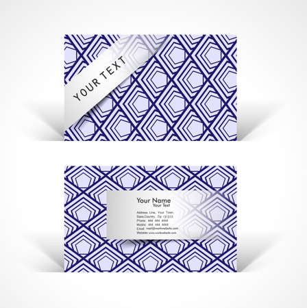 Abstract creative colorful business cards template design Vector