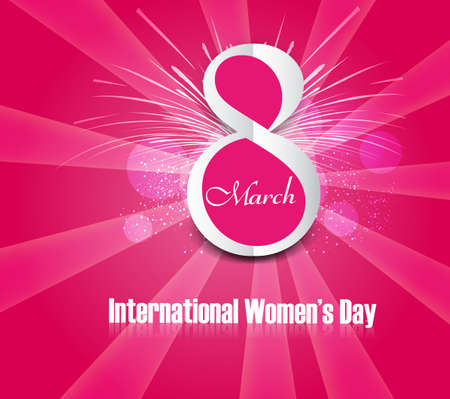 Beautiful background design for womens day colorful card vector  Vector