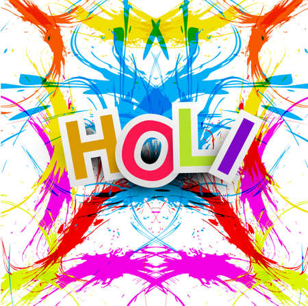 rang: Beautiful grunge colorful Indian festival Happy Holi colors splash.background