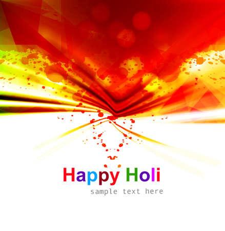hindus: Indian festival Happy Holi splash colorful celebrations background vector