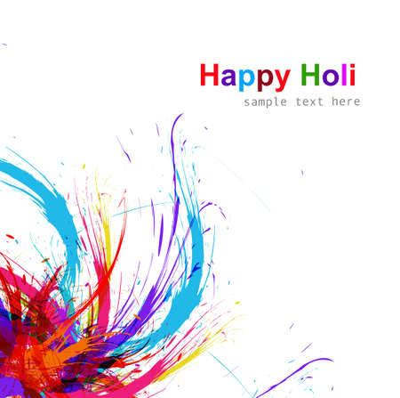 Beautiful Illustration of holi colorful grunge background vector design Vector