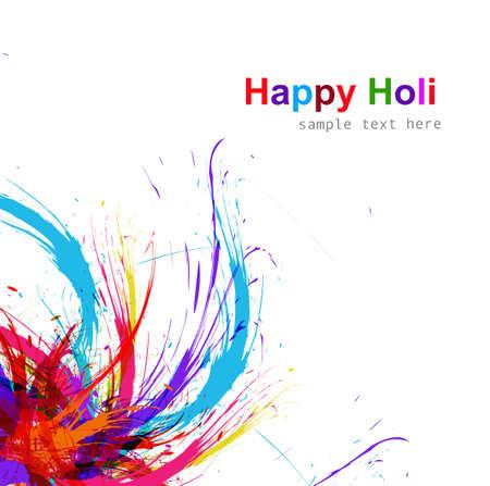 hindus: Beautiful Illustration of holi colorful grunge background vector design