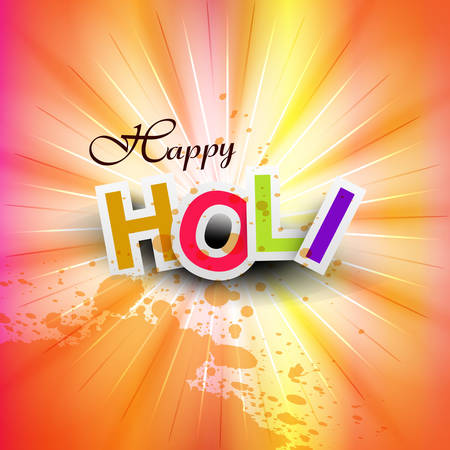 hindus: vector illustration happy holi for colorful indian festival celebration background Illustration
