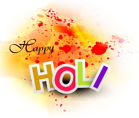 Beautiful abstract bright colorful holi card festival background  Vector