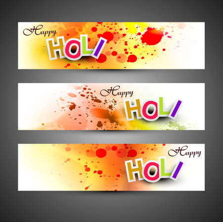 hindus: Beautiful banner and header set grunge with colorful colours splash. design