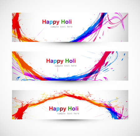 hindus: Beautiful banner and header set design with colorful colours splash. grunge vector
