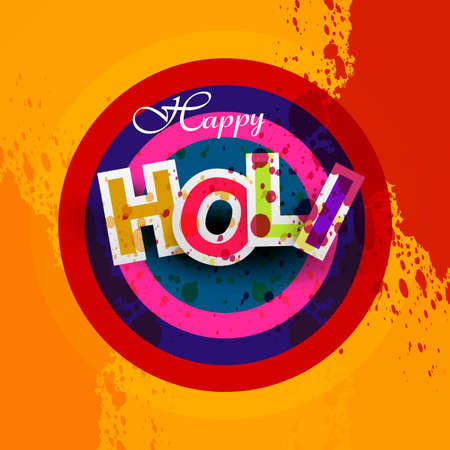 hindus: Indian festival Happy Holi splash bright colorful design vector