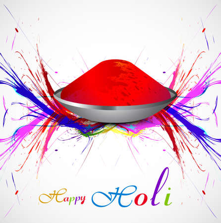 hindus: Gulal for holi background grunge of colorful wave illustration vector