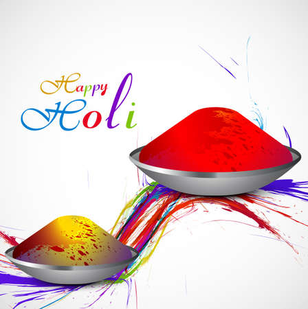 hindus: Gulal for holi background beautiful grunge of colorful wave vector design