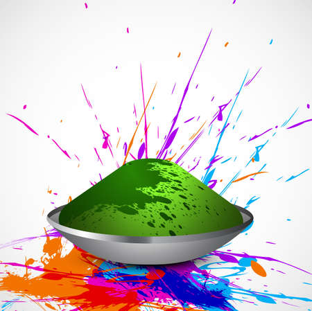 hindus: Beautiful splash of colorful grunge background gulal for holi festival vector wallpaper