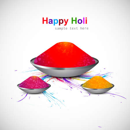 hindus: Background of indian festival colorful holi gulal card vector design