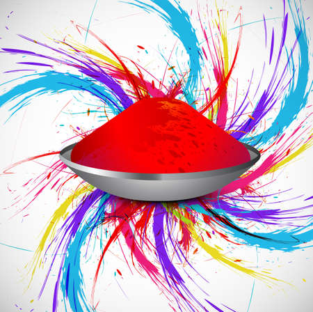 gulal: Beautiful holi colorful indian festival grunge stylish wave on gulal background vector