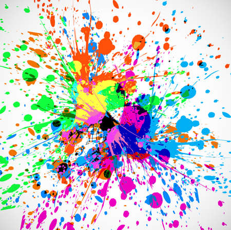 Beautiful grunge colorful splash card of indian festival holi background Vector