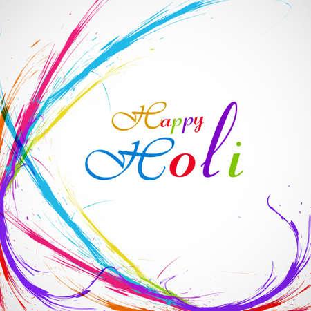 Beautiful grunge colorful stylish wave background of indian festival holi card illustration vector Vector