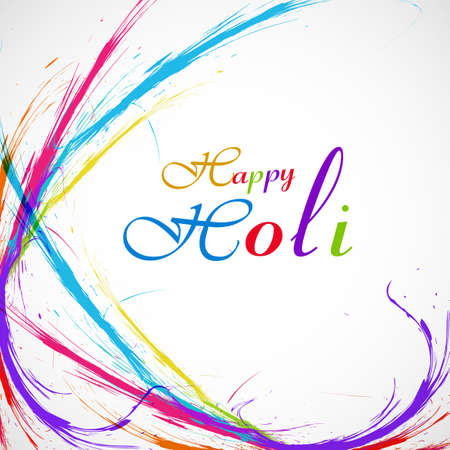 Beautiful grunge colorful stylish wave background of indian festival holi card illustration vector Vector