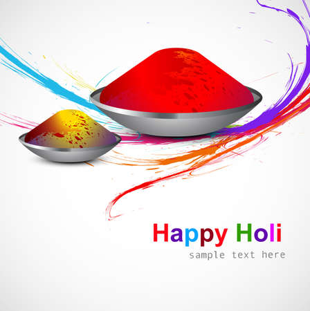 hindus: Grunge colorful wave for gulal of holi background design vector Illustration