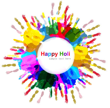 Beautiful indian holi colorful card celebration background illustration vector Vector