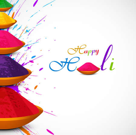 Beautiful card colorful holi gulal presentation celebration festival vector background