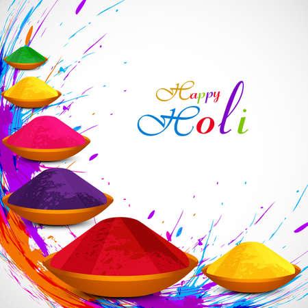 hindues: Hermosa gulal fondo colorido del festival Joli dise�o grunge ilustraci�n vectorial Vectores