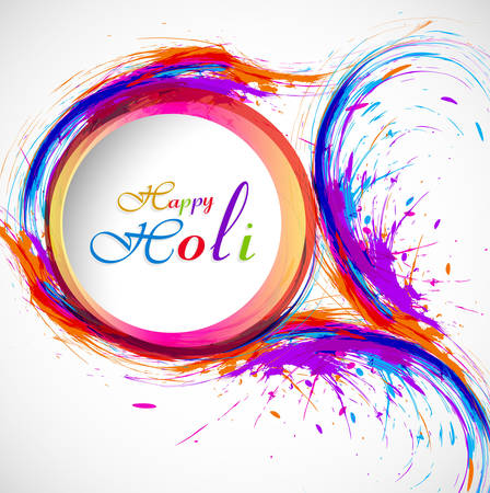 Beautiful card holi festival celebration colorful background  Vector