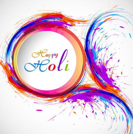 holi: Beautiful card holi festival celebration colorful background