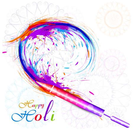 Beautiful holi pichkari colorful festival vector background illustration Vector