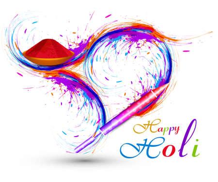 Vector colorful Pichkari for stylish holi celebration background Vector